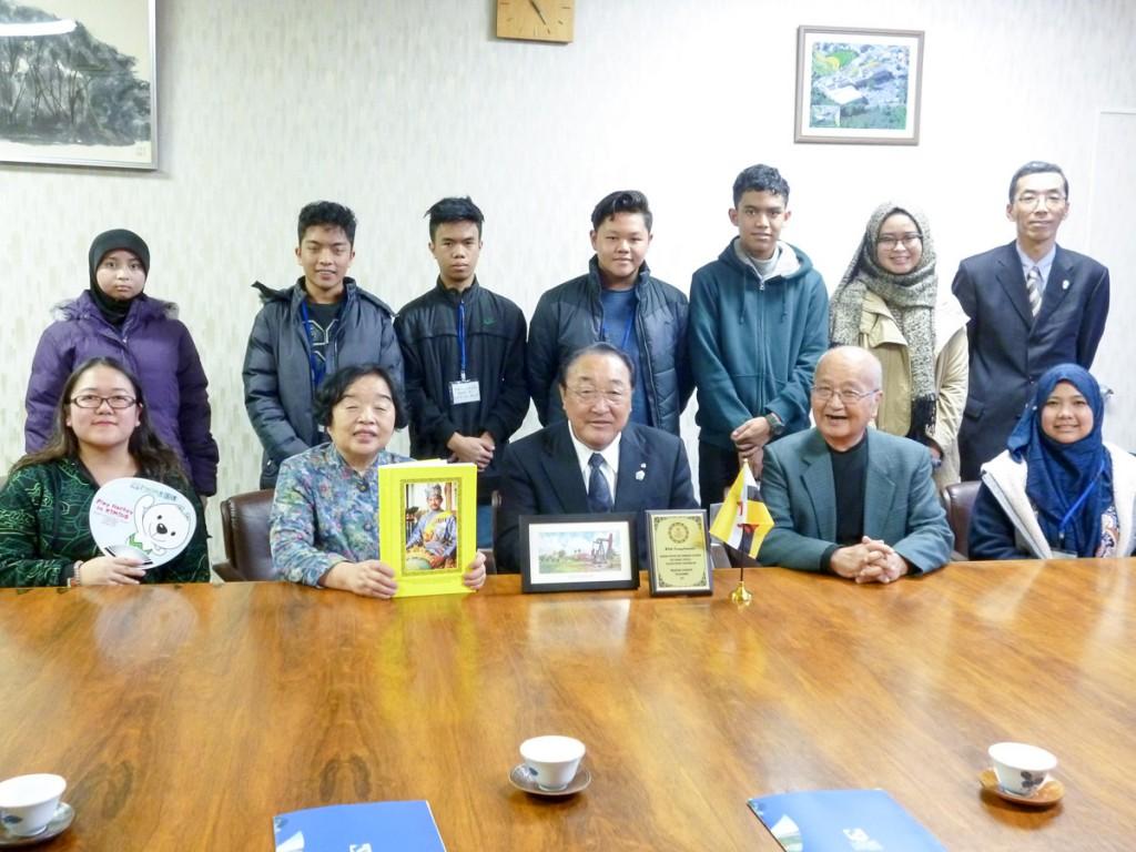 学校がある紀美野町町長へ表敬訪問